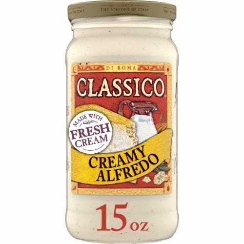 Classico Creamy Alfredo Pasta Sauce Perspective: front