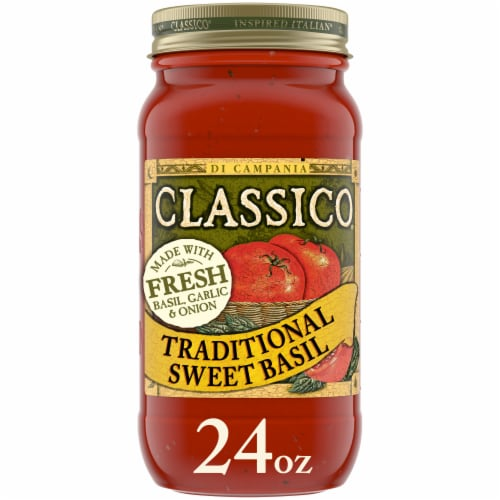 Classico Traditional Sweet Basil Pasta Sauce Perspective: front