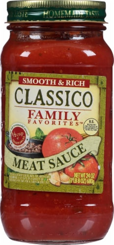 Classico Family Favorites Meat Sauce Perspective: front