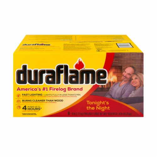 Duraflame Fire Logs - 6 Pack Perspective: front