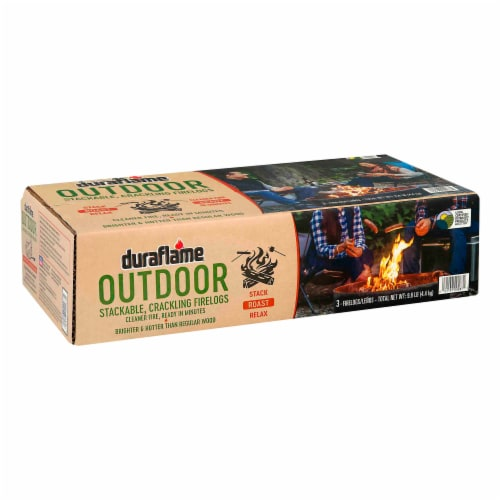 Duraflame Outdoor Stackable Crackling Firelogs - 3 Pack Perspective: front