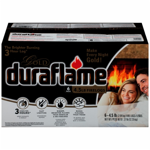 Duraflame Gold Firelogs - 6 Pack Perspective: front