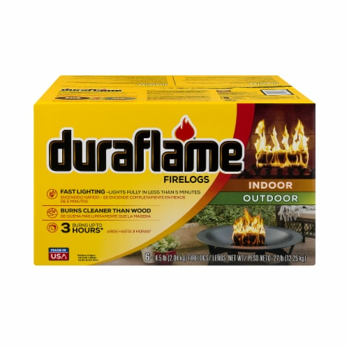 Duraflame Indoor Outdoor Fire Logs - 6 Pack Perspective: front