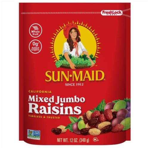 Sun-Maid Mixed Jumbo Raisins Perspective: front