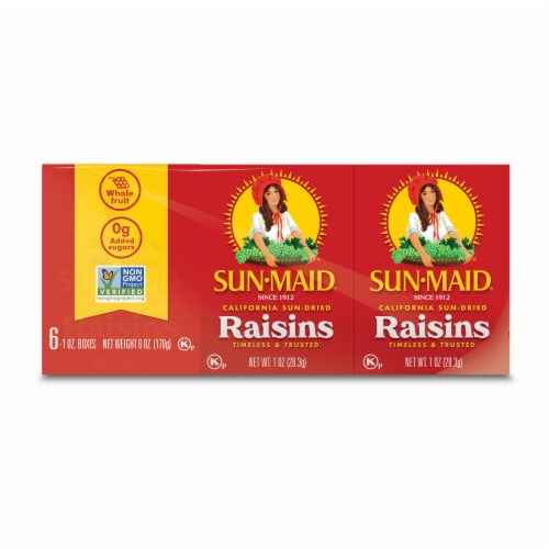 Sun-Maid Sun Dried Raisin Snack Packs Perspective: front