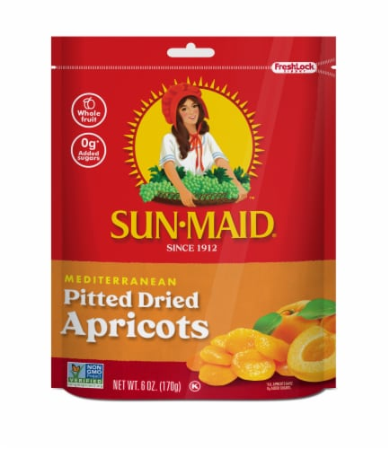 Sun-Maid Mediterranean Pitted Dried Apricots Perspective: front