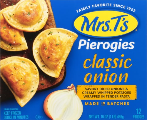 Mrs. T's Classic Onion Pierogies Perspective: front