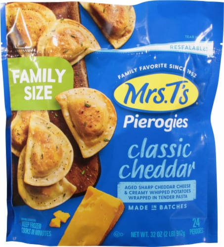 Mrs. T's Classic Cheddar Pierogies Perspective: front