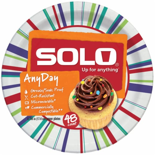 Solo All Occasion 7 Inch Paper Plates Perspective: front