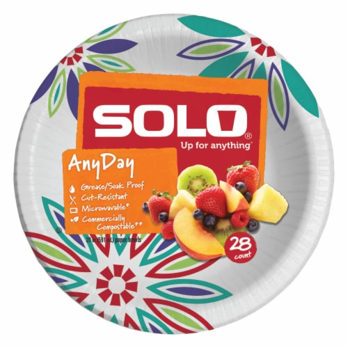 Solo Heavy Duty Paper Bowl 20 oz Assorted Perspective: front