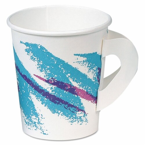 Solo. Cup 376HJZJ Single-Sided Poly Paper Hot Cup, 6 oz. Perspective: front