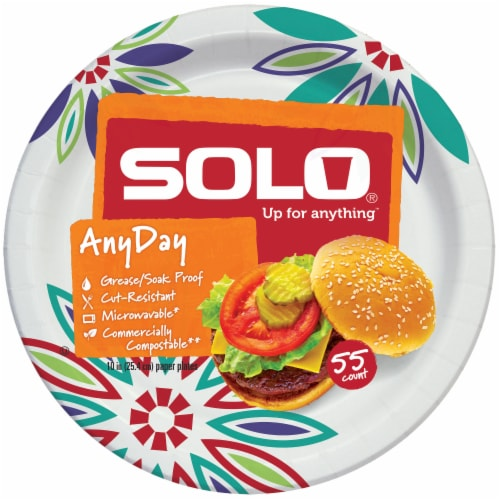 Solo Heavy Duty 10-Inch Paper Plates Perspective: front