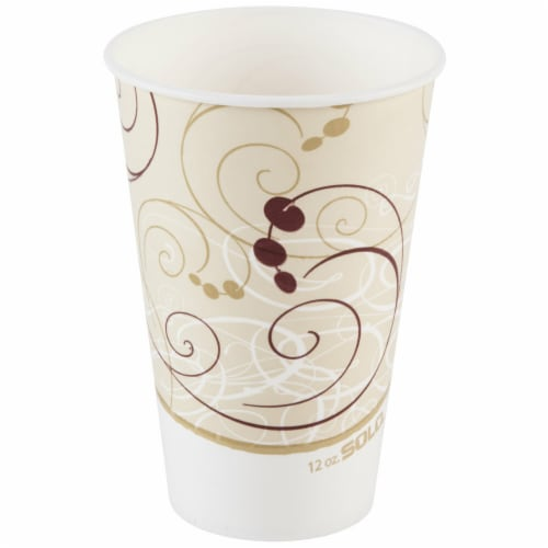 Solo. Cup RP12SPSYM 12 oz Poly Paper Cold Symphony Cup Perspective: front