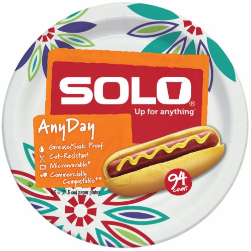 Solo Decorated 8.5-Inch Assorted Plates Perspective: front