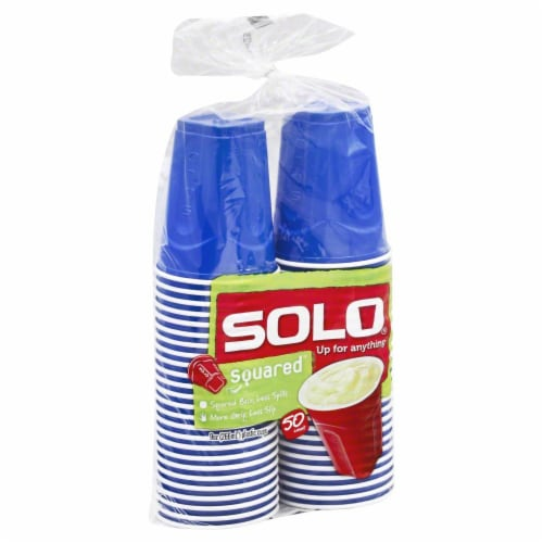 Solo Squared Plastic Cups Perspective: front