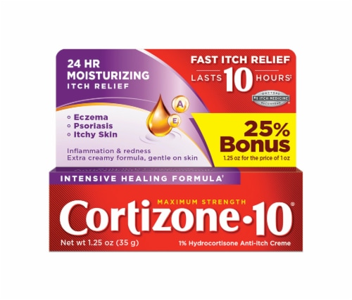 Cortizone 10 Max Strength Intensive Healing Itch Relief Cream Perspective: front