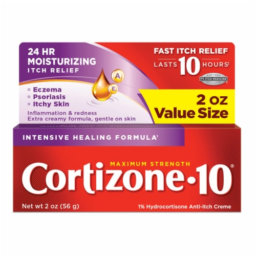 Cortizone 10 Intensive Healing Formula Hydrocortisone Anti-Itch Creme Perspective: front