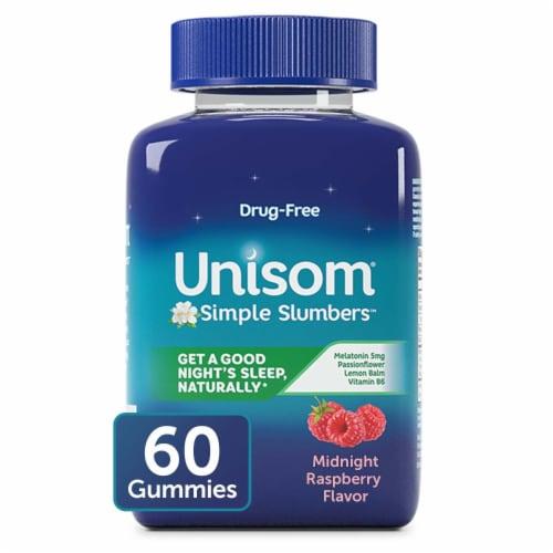 Unisom® Midnight Raspberry Simple Slumbers™ Gummies Perspective: front