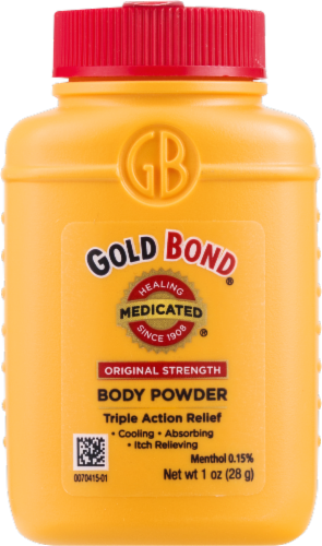 Gold Bond Original Strength Triple Action Relief Body Powder Perspective: front