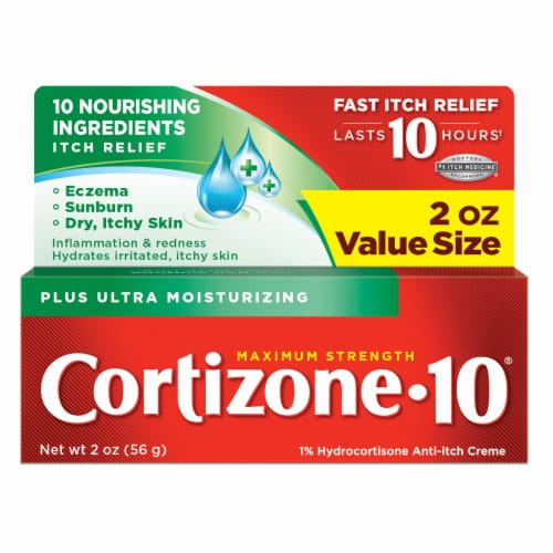 Cortizone 10 Plus Maximum Strength Ultra Moisturizing Creme Perspective: front