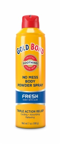Gold Bond No Mess Fresh Scent with Aloe Body Powder Spray Perspective: front