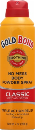 Gold Bond Soothing Classic No Mess Body Powder Spray Perspective: front
