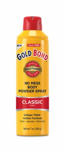Gold Bond No Mess Classic Scent Body Powder Spray Perspective: front