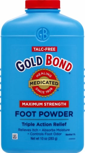 Gold Bond Medicated Maximum Strength Foot Powder Perspective: front