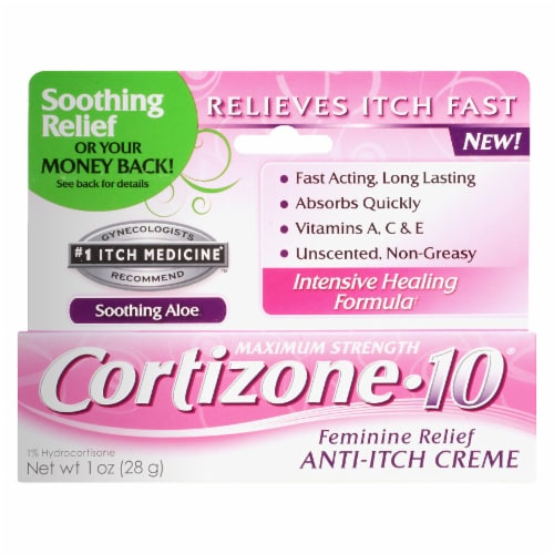 Cortizone-10 Feminine Relief Anti-Itch Creme Intensive Healing Formula Soothing Aloe Perspective: front