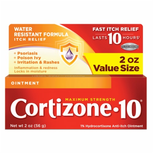 Cortizone 10 Maximum Strength Anti-Itch Ointment Perspective: front
