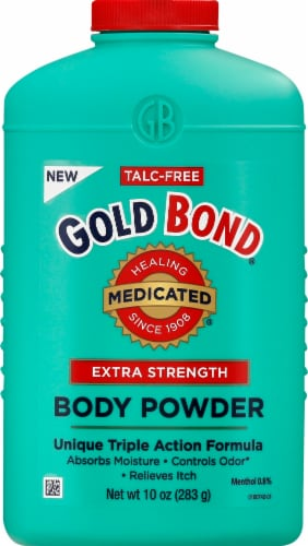 Gold Bond Medicated Extra Strength Triple Action Relief Body Powder Perspective: front