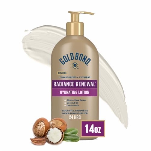 Gold Bond Ultimate Radiance Renewal for Visibly Dry Skin Cream Oil Body Lotion Perspective: front