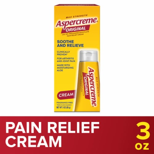 Aspercreme Odor Free Therapy Pain Relieving Creme with Aloe Perspective: front
