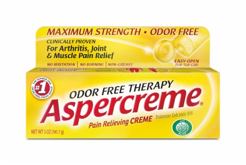 Aspercreme Maximum Strength Odor Free Pain Relieving Creme Perspective: front