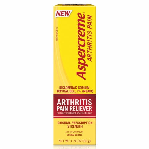 Aspercreme Arthritis Pain Relief Topical Gel Perspective: front