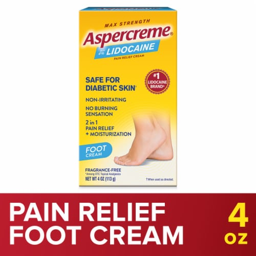 Aspercreme Foot Pain Creme Perspective: front