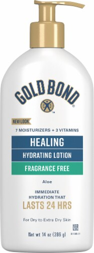Gold Bond Ultimate Healing Fragrance Free Lotion Perspective: front