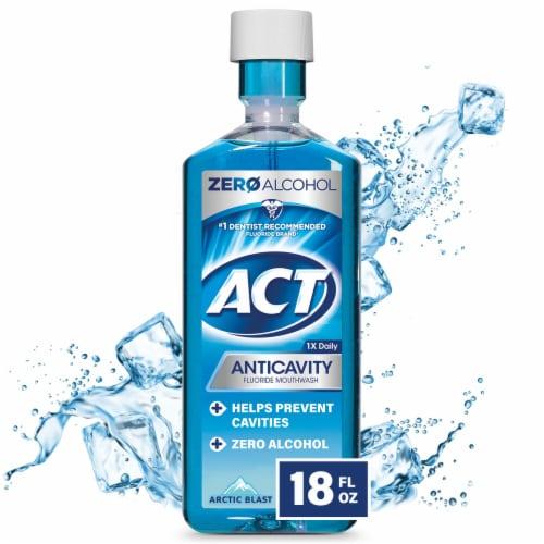ACT Anticavity Arctic Blast Flouride Mouthwash Perspective: front