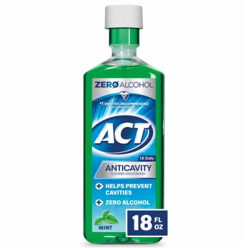 ACT Mint Anticavity Flouride Mouthwash Perspective: front