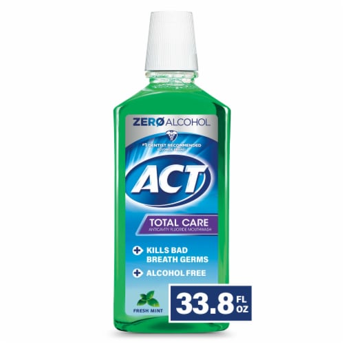 ACT Total Care Fresh Mint Anticavity Fluoride Mouthwash Perspective: front