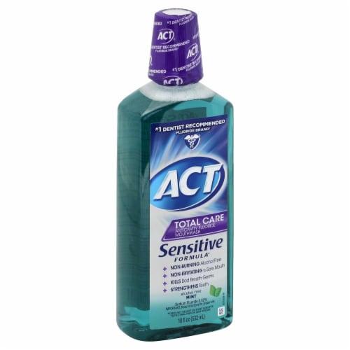 ACT Total Care Sensitive Formula Mint Mouthwash Perspective: front