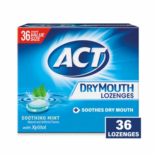 ACT Dry Mouth Xylitol Lozenges Perspective: front