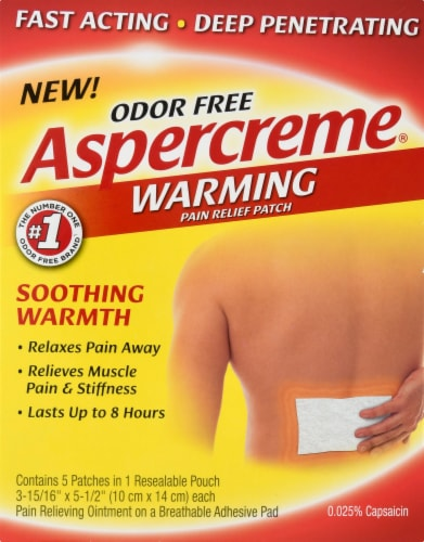 Aspercreme Warming Patchs 5 Count Perspective: front