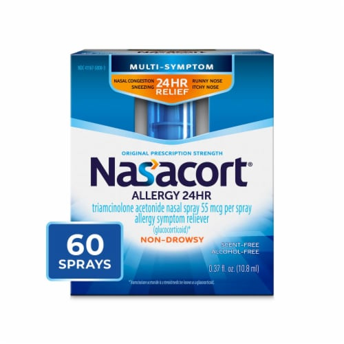 Nasacort 24 Hour Allergy Spray Perspective: front