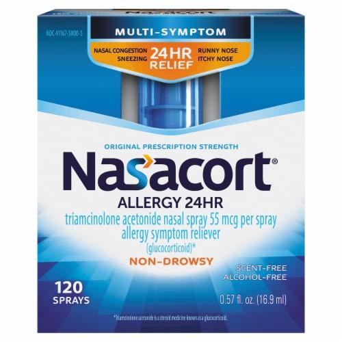 Nasacort® 24 Hour Non-Drowsy Allergy Relief Nasal Spray Perspective: front