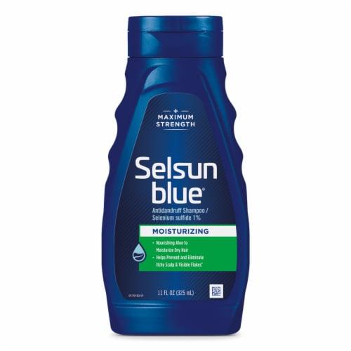 Selsun Blue® Maximum Strength Moisturizing with Aloe Dandruff Shampoo Perspective: front