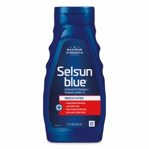Selsun Blue Medicated with Menthol Dandruff Shampoo Perspective: front