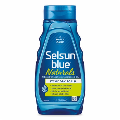 Selsun Blue® Naturals Itchy Dry Scalp Dandruff Shampoo Perspective: front