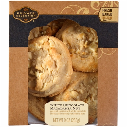 Private Selection™ White Chocolate Macadamia Nut Cookies Perspective: front