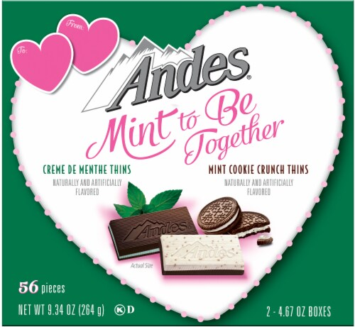 Andes Mint To Be Together Creme De Menthe Thins and Mint Cookie Crunch Thins 2 Count Perspective: front